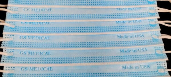 ASTM Level 3, Disposable Face Mask, Made in USA, 3 Layer, nose pin, ear loop-1