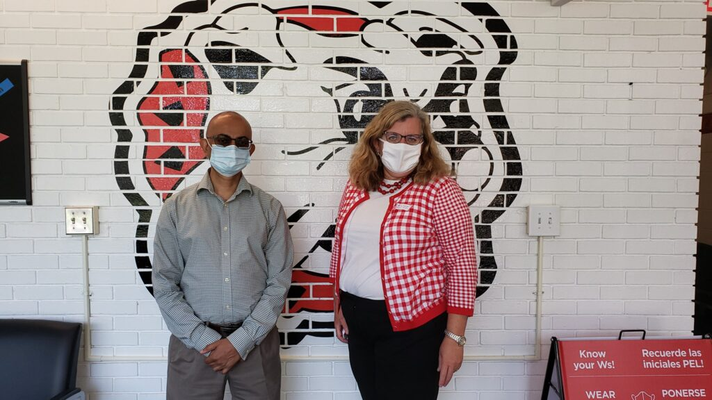 Disposable-face-mask-donation-Thomasville-Schools